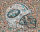 New York Jets Photo Mosaic Print Art  Using Over 100 of the Greatest Players $42.0 USD on eBay