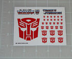 G1 Autobot Symbol Logo Insignia Sticker Decal Sheet For Sale