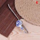 1Pc daily vintage porcelain vase bookmark for book blue and white metal Vy