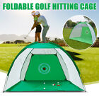 Golf Practice Net Hitting Cage Training Aid Mat Driver Irons + Golf Mat + Bag US
