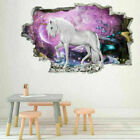 3d Unicorn Vinyl Wall Stickers Kids Living Room Nursery Decals Home Diy Decor Ed