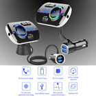 Bluetooth 5.0 FM Transmitter Handsfree Car Kit MP3 Player QC 3.0 USB Charger NEW