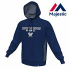 New Majestic, Big & Tall MLB Milwaukee Brewers Pullover Hoodie With Side Vents on Ebay