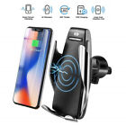 Car Charger Automatic Clamping Fast Wireless Charging Mount Smart Sensor Case S5