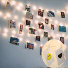 20-100 Led Hanging Picture Photo Peg Clip Fairy String Lights Wedding Home Decor