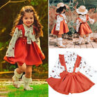 Us Boutique Kids Baby Girl Ruffle Tops Suspender Tutu Skirt Dress Outfit Clothes