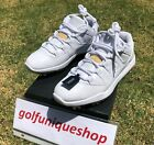 BRAND NEW Nike Air Jordan 11 Low Golf Cleat XI White/Metallic Gold AJ XI Retro