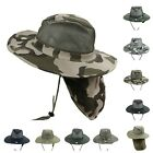 Boonie Bucket Hat Military Camo Mesh Neck Cover Sun Cap Hunting Hiking Fishing