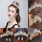 Women Luxury Wedding Bridal Pearl Crown Diana Princess Hair Band Headdress Tiara for sale  Shipping to Nigeria