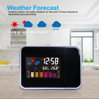 Alarm Clock LED Projection Weather Station Date Display Digital Table Clock