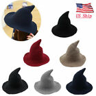 Kyпить US! Women Witch Hat Halloween Modern Witch Hat Made From High Quality Sheep Wool на еВаy.соm
