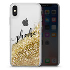 Gold Liquid Personalised Glitter Phone Case Blue Red Sparkling Cover iPhone R5