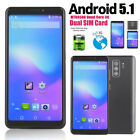 Unlocked Smartphone Mobile Phone Android 5.1 MTK6580 Quad Core Dual Card Dual 3G