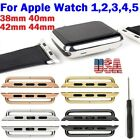 38mm 40mm 42mm 44mm Watch Band Connector Adapter Stainless Steel For Apple Watch image