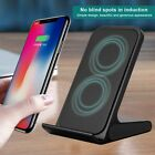 10W Wireless Charger Aluminum Stand Mobile Phone Charger for iphone X S9 Note 8