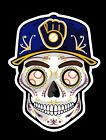 MILWAUKEE BREWERS Sugar Skull Vinyl Sticker Decal Weather Resistant Unique on Ebay