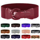 Women Retro Buckle Wide Stretch Elastic Waist Belt Waistband Tied Belt Hot Sale