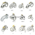 Stainless Steel Metal Male Chastity Cage Device Restraint Spiked-ring with Lock