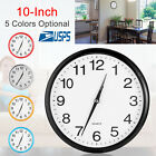 Modern Round Wall Clock Quartz Silent Sweep Movement Home Bedroom Kitchen Clocks
