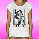 WOMEN'S T-SHIRT ELVIS PRESLEY JENNIFER LOPEZ JLO DANCE GIFT IDEA