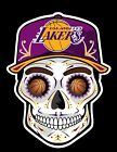 LA Los Angeles Lakers Sugar Skull Vinyl Sticker Decal, UNIQUE Design