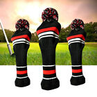 Golf Club Headcover Pom Pom 3 Pack Driver Fairway Head Covers Knitted Gift