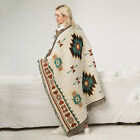 Indian Beach Knitted Blanket National Wind Vintage Cotton Woven Couch Wall US image