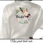Bride Wedding Bridesmaid Floral Satin Bridal Party Robe Mother Dressing Gown UK