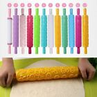 1 Pc Cake Decorating Tool Embossed Roller Patterned Rolling Pin Kitchen Gadgets