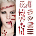 Halloween Realistic Fake Bloody Wound Scar Temporary Tattoo Stickers for Cosplay