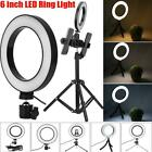 """6"""" LED Ring Light with Stand Dimmable Lighting Kit For Phone Makeup Live Video"""