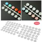 Nail Polish Display Color Card Nail Gel Color Chart with Sticker Manicure Tool