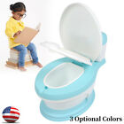Kid Baby Toddler Potty Training Toilet Seat Stool Toilet Chair 3 Colors US image