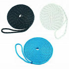 5/8 in 25 Ft Spliced Whipped Reflective Double Braided Nylon Dock Line Boat Rope
