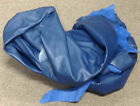 Z54 Leather Cow Hide Cowhide Upholstery Craft Fabric Royal Blue Brahma Hump Hole