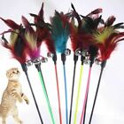 1 Pc Cat Toys Make A Stick Feather With Small Bell Natural Like Birds Random Col