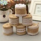 1 Pc Burlap Ribbon Vintage Wedding Decoration Crafts Sisal Lace Trim Jute Hessia