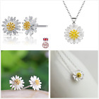 UK Sterling Silver Daisy Jewellery Set Gift Boxed