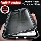 Metal Magnetic Tempered Glass Anti-peeping Case For Samsung S9 S10 Note 10 Plus