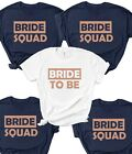 Hen Party T Shirts BM8 Bride To Be Bridesmaid Brides Squad Hen Do Wife Tribe Tee