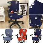 Christmas Elastic Universal Stretch Office Chair Cover Computer Chair Slipcover