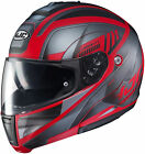 HJC Adult Red/Silver CL-Max 3 Gallant Full Face Modular Motorcycle Helmet