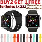 Silicone Band Bracelet Strap Sports Bands For Apple Watch iWatch Series 1 2 3 45 image