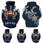 DALLAS COWBOYS JERSEY NAVY BLUE HOODIE SWEATSHIRT WINTER SPORT PULLOVER COAT TOP $20.59 USD on eBay