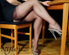 Eleganti Fully Fashioned Stockings - ESP CHOCOLATE POINT  imperfects from NYLONZ