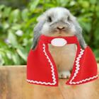 Pets Cat Dog Halloween Christmas Costume Red Cloak Cape Shawl Coat for Rabbit