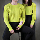 ByTheR Men Basic Pretzel Crew Neck Knit Tee Simple Pattern Classic Sweaters Top
