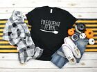 Frequent Flyer Witch Shirt Funny Halloween T-Shirt Unisex Tee New