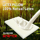 1-2PCS 100% Natural Bedding Latex Feel Pillow Soft Comfort Bed Sleeping Cover US image