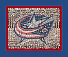 Columbus BlueJackets Mosaic Print Art Designed Using Over 75 players.